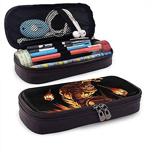 Legend of Zelda Spirit Tracks Boss PU Estuche de cuero con cremallera, bolsa estacionaria, bolsa de almacenamiento, bolsa de maquillaje