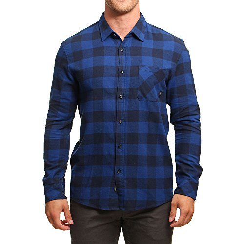 Quiksilver Motherfly Flannel Chemise Homme Motherfly Navy FR : S (Taille Fabricant : S)