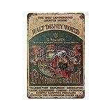 XREE Cartel de metal retro con diseño de Campgroundd Resort Walt Disney World, Fort Wilderness, 30 x 40 cm