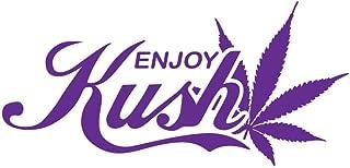 Bamfdecals Enjoy Kush Marijuana Leaf Detail Cannabis Culture Vinyl Decal - Large - Purple