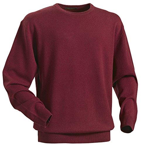 Royal Spencer Herren Rundhals-Pullover aus Kaschmir-Seide, Kaschmirpullover in Bordeaux, kuscheliger Winterpullover, angenehm zu tragen (Gr: M - XL)