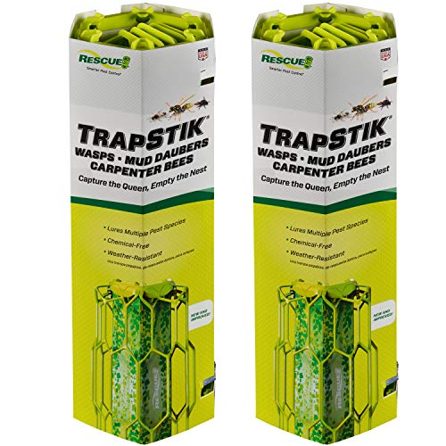 RESCUE! TrapStik for Wasps, Mud Daubers, Carpenter Bees - 2 Pack