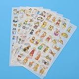 BLOUR 6 unid/Bolsa, Lindo Perro Mascota japonés Shiba Inu PVC Transparente Corea Pegatina niños Decorativo Dibujos Animados Manual Scrapbook Pegatina