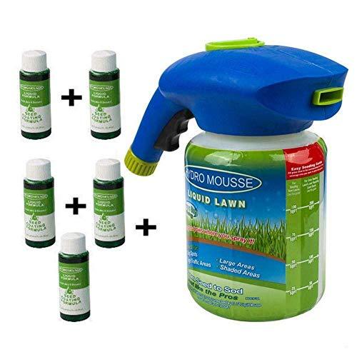 EliteMill Césped Pulverizador Semilla Líquido Hidro Siembra Sistema Mousse Domésticos Hierba Cuidado - 1 Botella 5 Líquido
