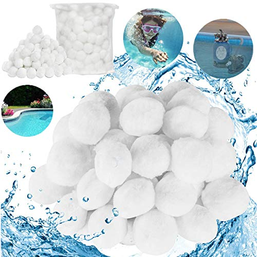 Fiyuer filterball sandfilter filterbälle für sandfilterpumpe filtermaterial sandfilteranlage filtersand quarzsand filterbälle filtermaterial für sandfilterpumpe(200g)