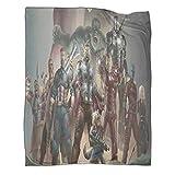 Manta de forro polar superhéroe de la película de los Vengadores, de edición limitada, 100 x 130 cm, para otoño e invierno, para varias fiestas en el sofá cama.