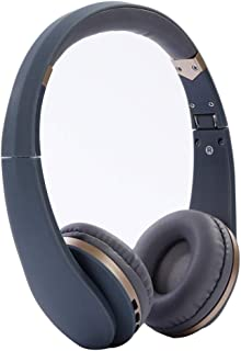 Bluetooth Foldable Headphones Active Noise Cancelling Bluetooth Headphones with Mic Soft Memory-Protein Earmuffs for PC/Cell Phones/TV,Gray