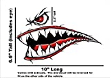 World War 2 Flying Tiger Fighter Teeth Tiger Teeth New Motorcycle Sportbike Decal Sticker