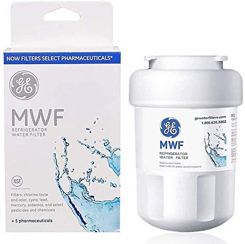 MWF Refrigerator Water Filter Replacement for GE Refrigerator Compatible with MWF, MWFA, MWFP, GWF, GWFA, GWF06,Kenmore 9991, 469991(1 Pack)