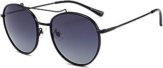 Fashion Personality Round Face Fashion Wild Sun Sunglasses UV400 Sunglasses Female Retro Sunglasses Retro (Color : Black)