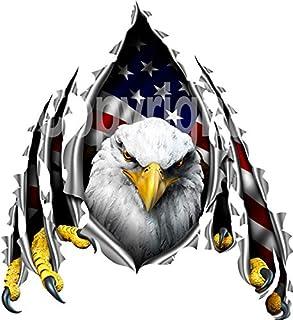 avgrafx Eagle American Flag Rip Decal RV, Camper, Trailer, Truck Laminated