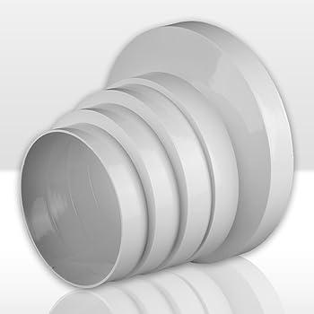 Awenta Tubo reductor con diámetro de 100/110/120/125/150 mm, de transición, PVC: Amazon.es: Hogar