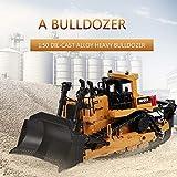 Goolsky HUINA 1700 1:50 Die-Cast Alloy Heavy Bulldozer Engineering Truck Modelo Esttico Caterpillar Wheel Bulldozer Juguetes Educativos para Nios