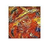 QIUPING Chagall Paintings Metropolitan Opera Poster Wall Art Poster Cuadro Cuadro Cuadro Cuadro Cuadro Cuadro de la Sala Decoración del Hogar Enmarcado/Sin Marco 6060 cm