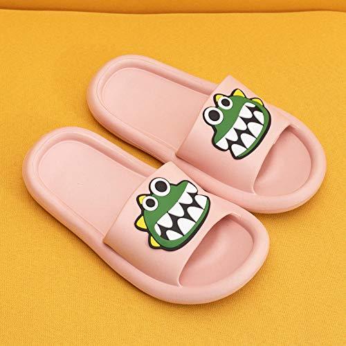 quming Zapatos Playa Piscina para Zapatos debaño Verano,Sandalias silenciosas de Dibujos Animados de Verano, Zapatillas Antideslizantes de Suela Gruesa para baño-Pink_37-38