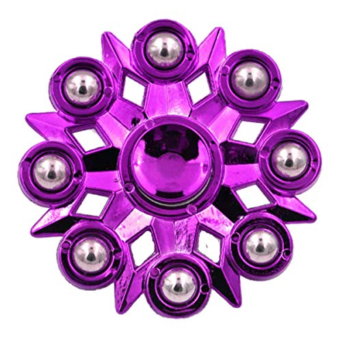 LAFIFE Interesting Metal Fingertip Gyroscope Can Relieve Stress and is Easy to Use Anywhere Purple