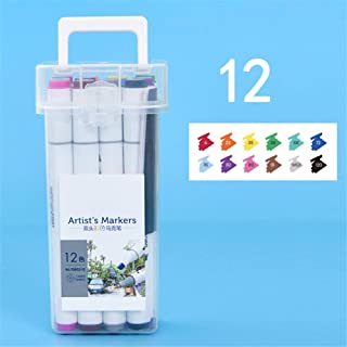 Dual Markers Brush Pen, 24/48 Colored Pen Fine Point Art Marker & Brush Highlighter Pen for Adult Coloring Hand Lettering ...