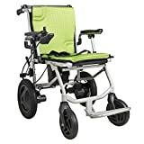 Foldable Electric Wheelchair Mobility Aid Motorized Chair Scooter-Double Control, Rotate 360°, Safe Braking-Only 35lbs Travel Size(3-7Days Fast Delivery)
