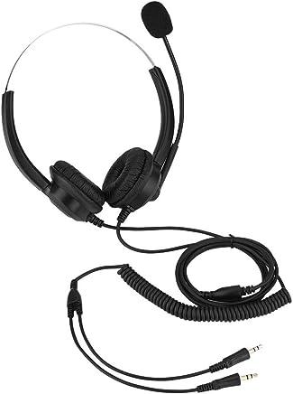 Cuffie telefoniche da 2,5 mm, cuffie senza suono Cuffie con microfono da 360 ° Cuffie auricolari rotanti per cuffie Call Center nere (Color : Dual 3.5mm plugs) - Trova i prezzi più bassi