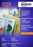 Avery España 05624501 - Sobres separadores transparentes en polipropileno y personalizables, 12 pestañas, 260 x 300 x 9 mm, color blanco