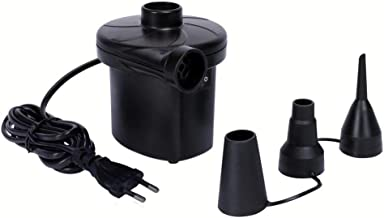 MAHI Instant AC Electric Air Pump (for Air Mattress, Pool Toys, Inflatable Stuffs) - 230 Voltage, Frequency 50 Hz, Black