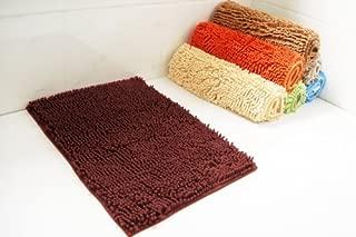 BH Home & Linen 2 Piece Chenille Bath Rug Large Bath Mat (20