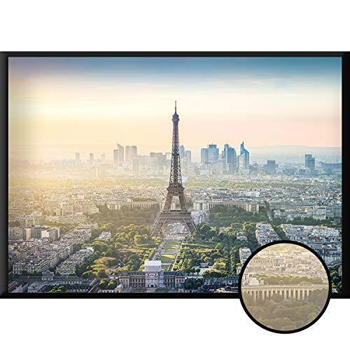 Calias® Póster Premium Paris DIN A1   Imagen moderna como decoración para salón o dormitorio   Decoración de pared elegante   Cuadro sin marco