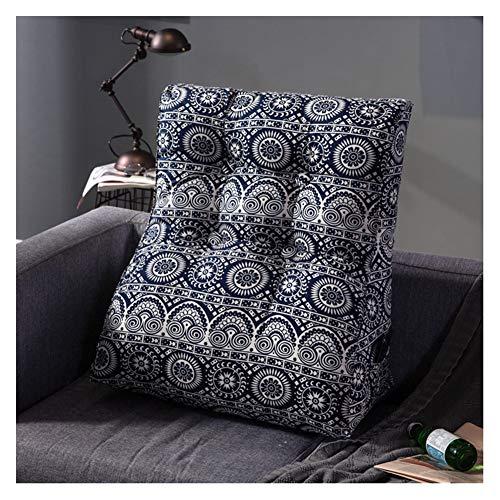 Driehoekig leeskussen lendensteun kussen bed en bank zacht wasbaar nekkussen rugsteun wigkussen 45X55cm(18x22
