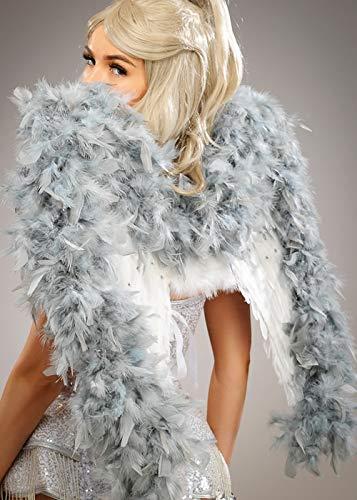 Deluxe Sparkle Grey und White Angel Federflügel