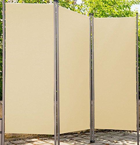 MA Outdoor Paravent Creme Sichtschutz Sonnenschutz Sonnensegel dunkleres beige