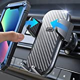 LISEN Car Phone Holder Mount, [Upgrade Never Slip & Droop] Phone Mount for Car [Won't Break Vent] Universal Car Cell Phone Holder [Thick Case Friendly] Compatible with iPhone13 Samsung and More