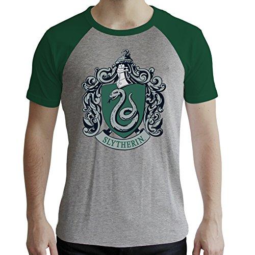 ABYstyle - Harry Potter - Tshirt - Serpeverde - Uomo - Grigio & Verde (XL)