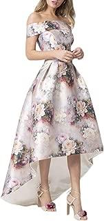 Jessica CC Women's Bodice High Low Evening Off Shoulder Floral Maxi Long Dress