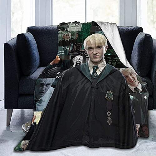 SUNGUKO Draco Malfoy Manta de franela de Harry Potter, impresión 3D, adecuada para sofá, salón, oficina, microfibra, regalos para niños (Harry Potter 3,135 x 200 cm)