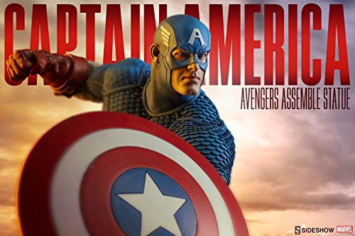Marvel Sideshow Comics Avengers Assemble Captain America Statue image