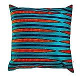 bunte Dekokissen Kissenbezug 45x45 Couch-Kissen farbenfroh Sofakissen Baumwolle afrikanischer Stoff (Gestreift)