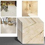 VEELIKE Confezione 12 Pezzi 30cm x 30cm Piastrelle Adesive Mattonelle Pavimento Impermeabile Vinile...