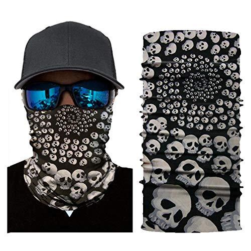 Passamontagna con teschio Maschera per sport all'aperto Equitazione Turbante Estate Crema solare Turbante magico 25 * 50 2