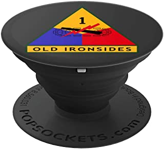 1st Armored Division (AD) Patch - Gray - PopSockets Grip and Stand for Phones and Tablets
