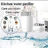 Pkfinrd Cucina Depuratore di Acqua del Rubinetto in Ceramica Depuratore di Acqua 8-Layer purificatore Riduce Metalli Pesanti e batteri in Famiglia for Bere Filtro Domestica