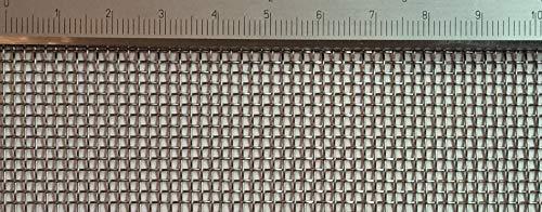 Edelstahl Drahtgewebe mit 1,5mm Maschenweite, 0,5mm Drahtstärke. 1m x 80cm