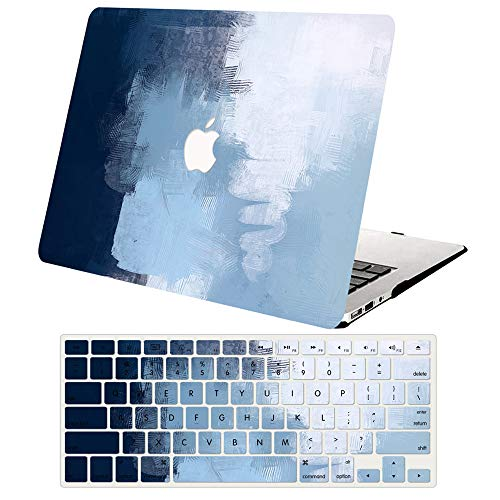 AJYX MacBook Pro 15 inch Case (Model: A1398, 2015-2012 Release), Plastic Hard Shell Cover & Keyboard Cover Skin for MacBook Pro Retina 15 inch,Blue painting