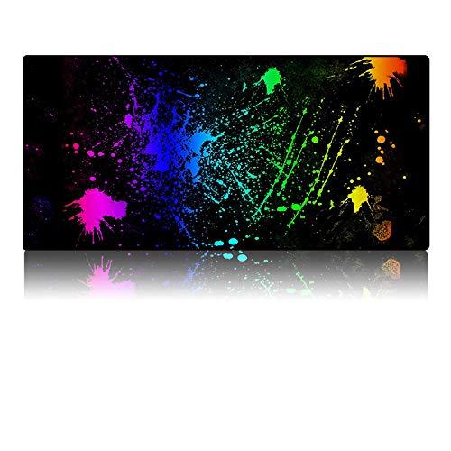 GFHDFHDFJS Alfombrilla De Ratón Grande,Alfombrilla De Teclado De Graffiti En Color, Cómoda Alfombrilla De Escritorio Personalizada Antidesgaste Impermeable Ultra Suave, Alfombrilla De Escritorio