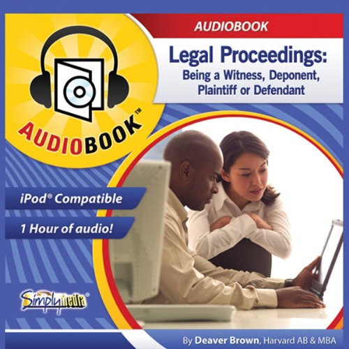 Legal Proceedings audiobook cover art