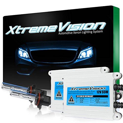 XtremeVision 55W AC Xenon HID Bundle with Slim AC Ballast (1 Pair) and 9005 5000K - 5K Bright White Xenon Bulbs (1 Pair)