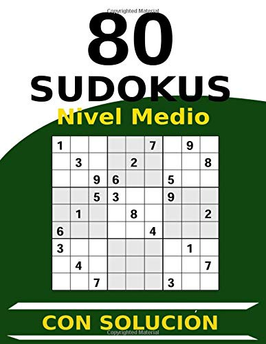 80 Sudokus Nivel Medio Con Solución: Tipo 16x16 | Cuaderno de Sudokus Tamaño A4 con 1 Sudokus por Página | Perfecto para Gente Mayor Regalo | Cada ... | Perfecto Para Amantes de los Sudokus