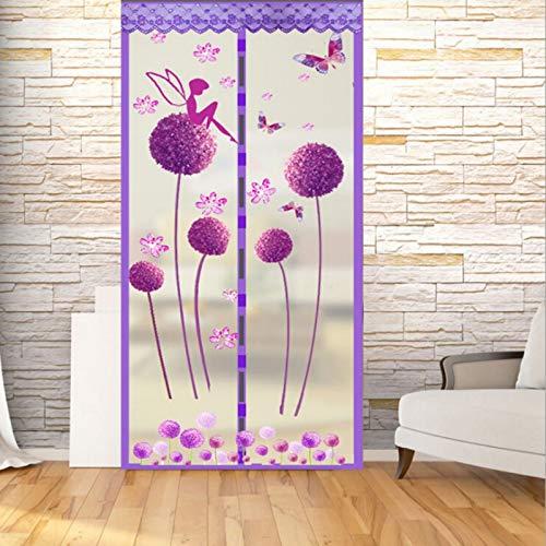 2020 Sommer Anti-Moskitonetz Verschlüsselung Magnet Moskitonetz Vorhang Tüll Tür Bildschirm hochwertige magnetische 3 Farben M1 B 110 x H 210 cm