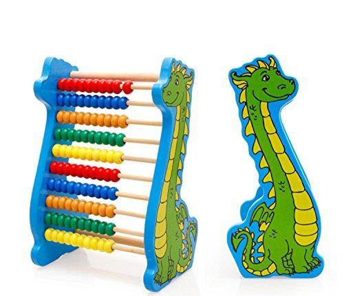 Lewo Abakus Holz Rechenschieber Lernspielzeug Zählrahmen Dinosaurier Kinder Mathe Spiele für Kinder