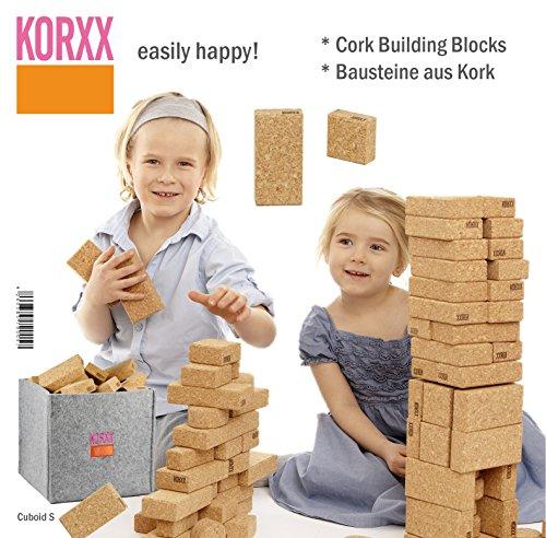 Korxx korxx42603857900573200g Cuboid Kork Building Block in Filz Box (klein, 50Stück)