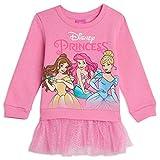 Disney Princess Cinderella Toddler Girls Ruffled Pullover Fleece Pink 3T